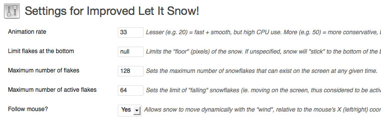 Improve Let It Snow