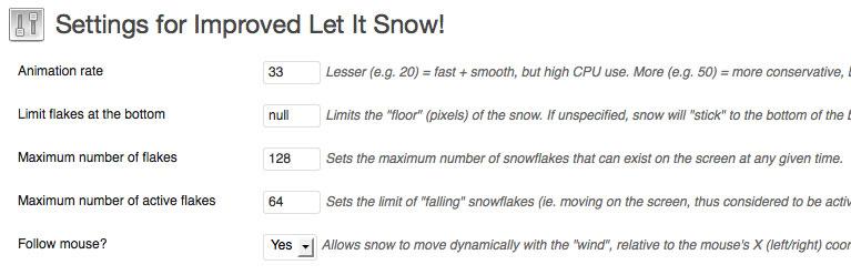 Improve Let It Snow