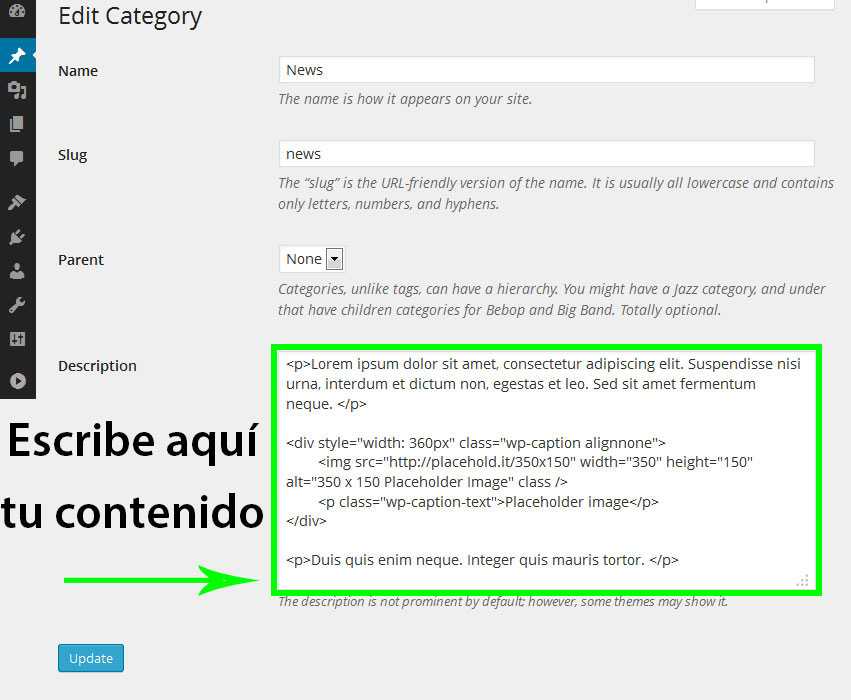 html-categoria-wordpress