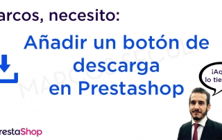 Añadir botón descarga directa en Prestashop
