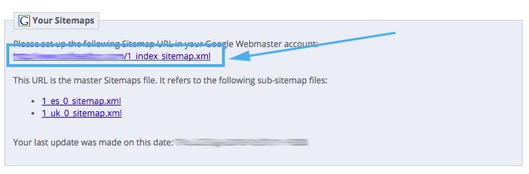 URL Sitemap Prestashop