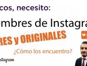 Nombres Instagram originales y libres