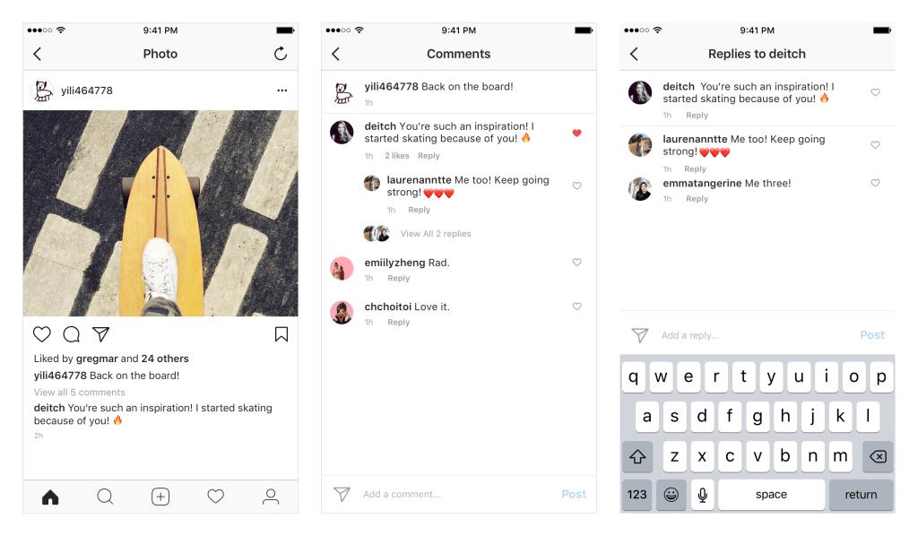 Comentarios Anidados Instagram