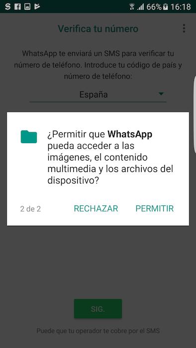 Permisos Archivos WhatsApp