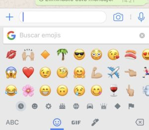 Buscar Emoticono WhatsApp