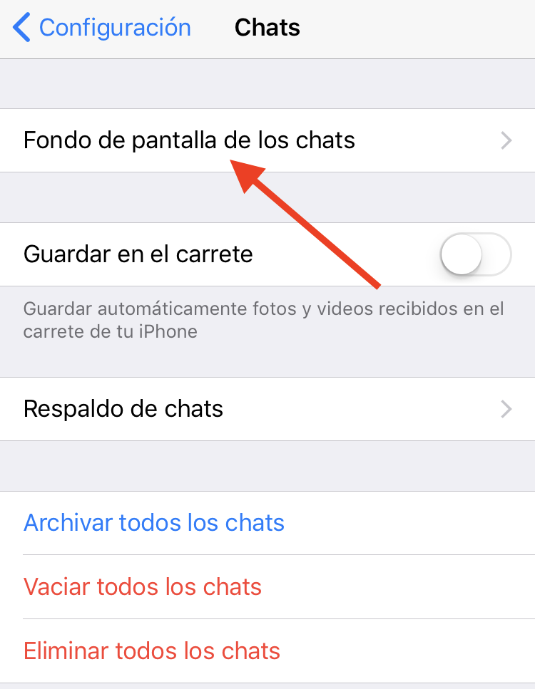 Cambiar fondo de WhatsApp