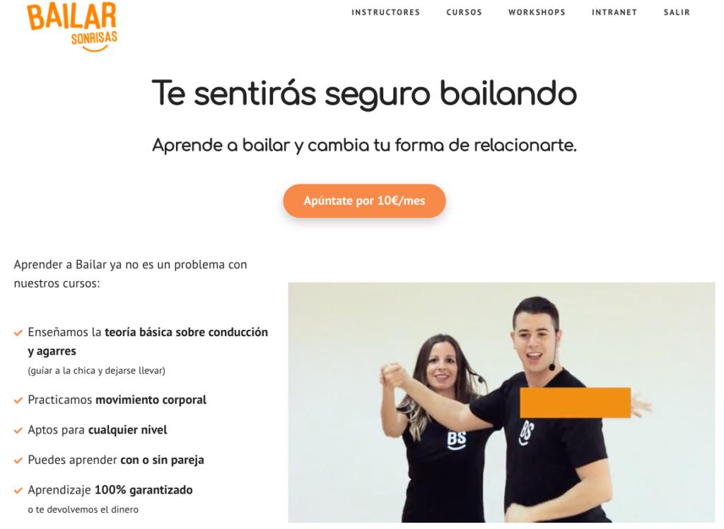 Caso éxito Academia Online Baile