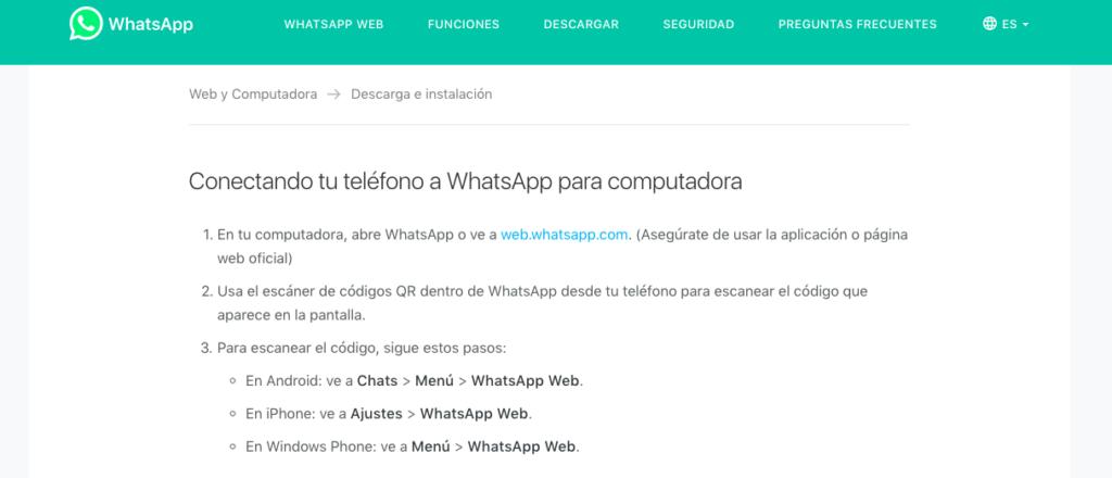Crear cuenta Whatsapp desde PC