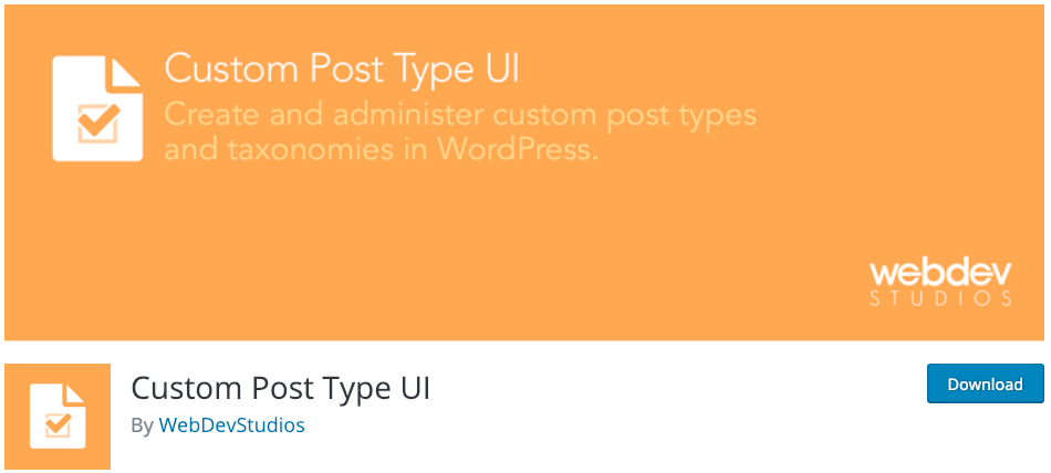 Custom Post Type UI Plugin