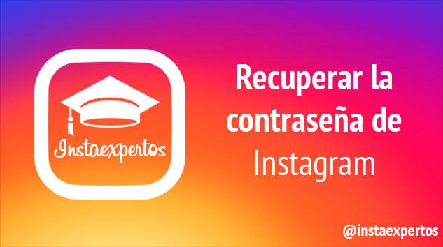 Recuperar contraseña de Instagram