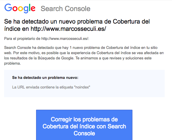 URL indexada noindex WordPress