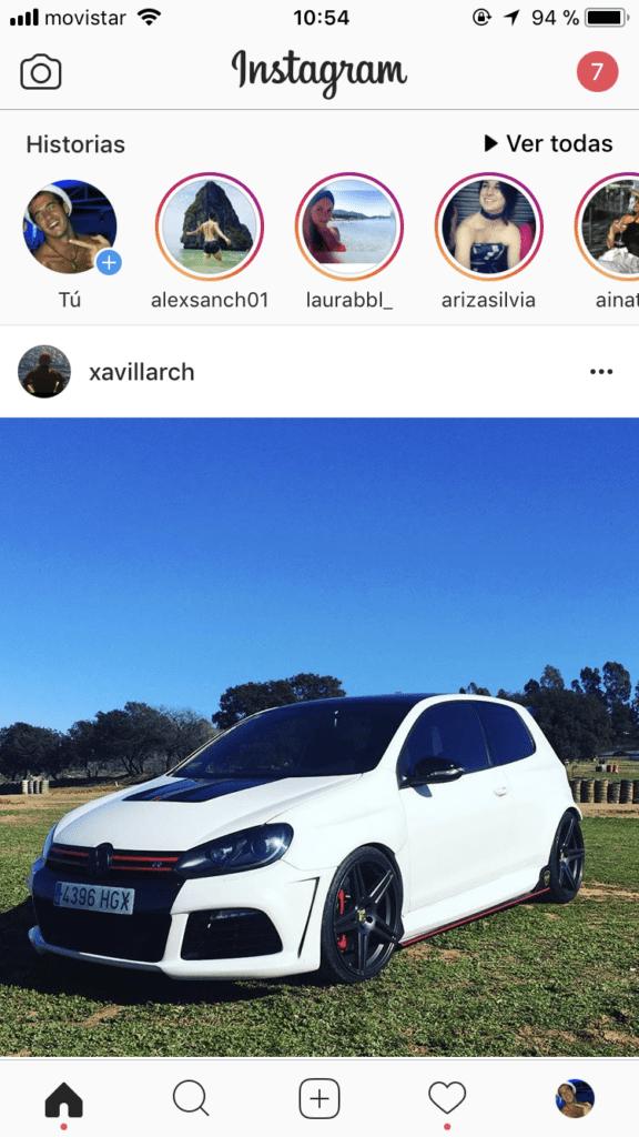Actualizar historias Instagram