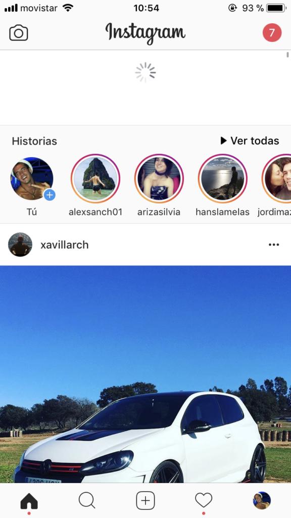 Actualizar Instagram Stories