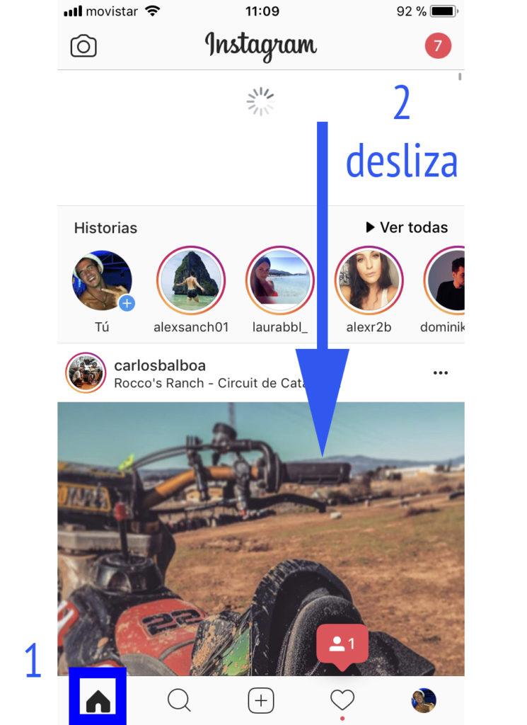 Actualizar noticias Instagram