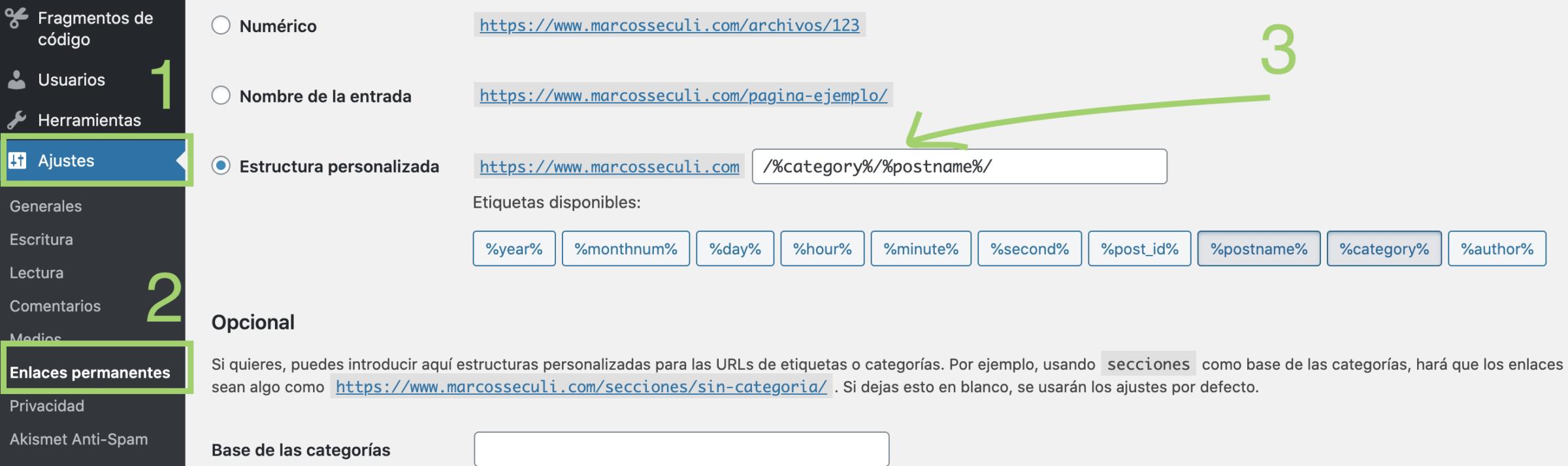 configurar urls amigable wordpress