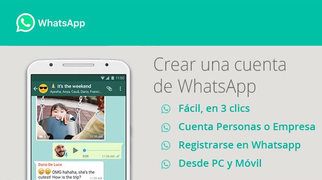 Crear una cuenta de Whatsapp