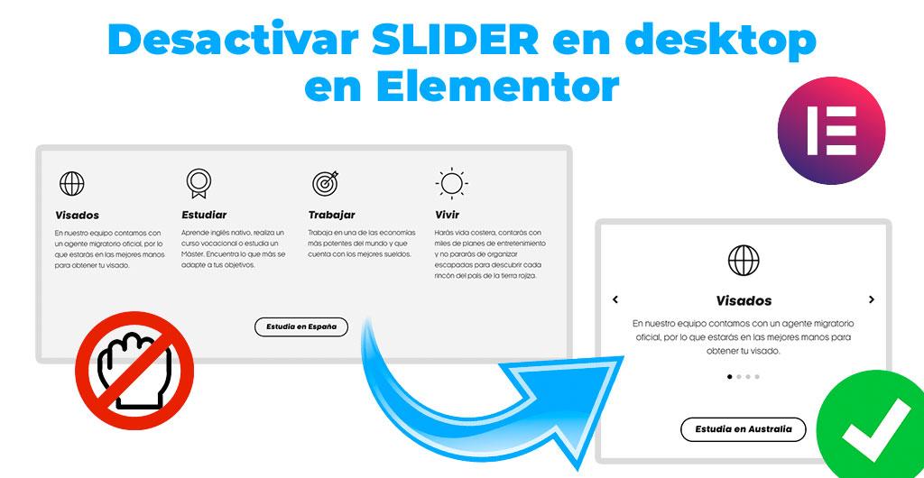 Desactivar Slider Elementor
