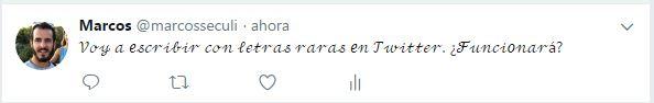 Letra cursiva Twitter