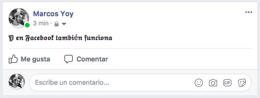Letras raras Facebook